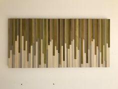 Kunst - Holz Wand - rustikale Holz-Skulptur Wand Wandmontage 46 X 22 von moderntextures
