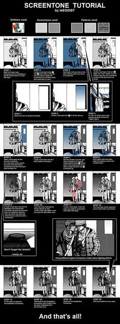 Screentone tutorial by leEGOIST on DeviantArt