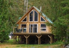 Falcon Architectural Custom Cabins Garages, Cedar Homes, Post and Beam Homes, Cedar House Plans. Cabin Plans With Loft, Small Cabin Plans, Small Cottage House Plans, Loft Floor Plans, A Frame House Plans, House Plan With Loft, Small Cottage Homes, Lake House Plans, Cottage Plan
