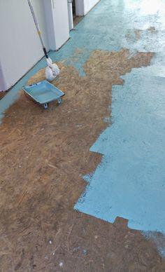 DIY Painted Particle Board Floor Mmmm Teal DIY Painted Particle Board Floor Mmmm Teal Kaz Thomas Kaz s house DIY Painted Particle Board Floor Learn what products nbsp hellip Flooring