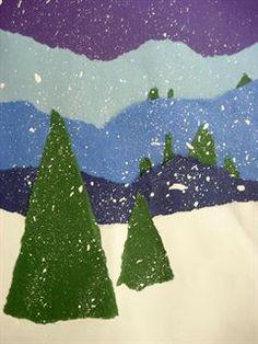 Artsonia Art Gallery - Winter Landscape