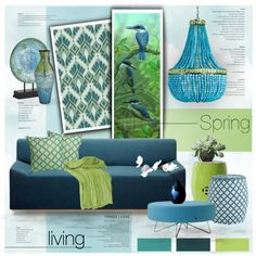 Feels like Spring by nyrvelli on Polyvore featuring interior, interiors, interior design, home, home decor, interior decorating, Blu Dot, Rizzy Home, Pier 1 Imports and Spring