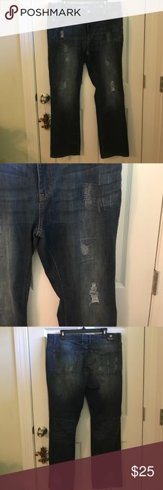 Distressed jeans NWT distressed jeans. Bought these and they're too big for me. Jeans
