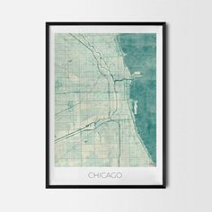 Chicago art posters and prints of your favorite city. Unique map design of Chicago. Perfect for your house and office or as a gift for friend.Map Print - Minimalist City Map Art Poster - Interior Ideas, Wall Art Gift, Cool Art Prints, Unique Map Posters, Cheap Bedroom Gifts, Decorative Design