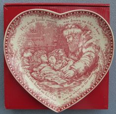 Johnson Brothers Twas the Night Before Christmas Heart Shaped Dish New In Box Christmas Dinner Plates, Christmas Dinnerware, Christmas China, Christmas Hearts, Christmas Table Settings, Christmas Kitchen, Vintage Christmas, Christmas Design, Christmas Ideas