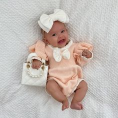 Cute Baby Girl Outfits, Mommy And Me Outfits, Cute Baby Clothes, Kids Outfits, Fancy Romper, Peach Baby Shower, 4 Month Old Baby, Fashion Ideas, Kids Fashion