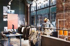 nudie jeans repair shop 188 bowery new york designboom