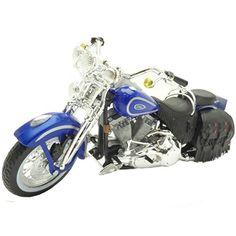 Modello MOTO 1:18 HARLEY DAVIDSON 2000 FXDL DYNA LOW RIDER BLU VIOLET Maisto