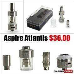 Aspire Atlantis Pre-Order - $36.00 USA - http://vapingcheap.com/aspire-atlantis-tank/