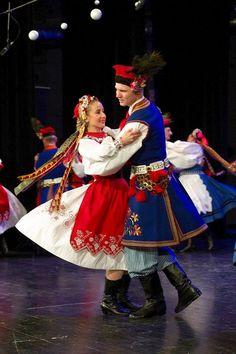 Region of Eastern Kraków. Polish Folk Costumes / Polskie stroje ludowe