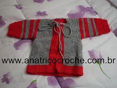 Versão em Português da Receita do Casaquinho Surpresa de Elizabeth Zimmerman Do Blog Ana Trico e Crochê Fácil e rápido,bom de faz...