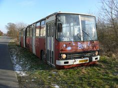 Photos of buses from all the world. Abandoned Cars, Abandoned Vehicles, Old Cars, Locomotive, Art Reference, Tractors, Europe, Trains, Garage