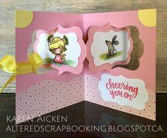 Karen Aicken using the Pop it Ups Katie Label Pivot Card and Beach Edges dies by Karen Burniston for Elizabeth Craft Designs. - C4C285  Teacher Appreciation