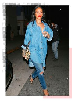 Want to fill an empty seat at Rihanna& ANTI World Tour? Join the Rihanna Fa. Estilo Rihanna, Mode Rihanna, Rihanna Street Style, Rihanna Fan, Rihanna Outfits, Rihanna Casual, Rihanna Dress, Rihanna Fashion, Denim Fashion