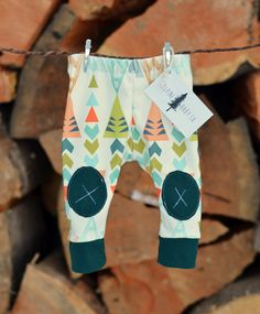 Organic Cotton Leggings in Lime Teepee with Dark Teal Patches - Knit Knee Patch Leggings - Adventure Leggings - Kids Outdoor Apparel on Etsy, $43.31