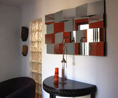 """I keep coming across these unique mirrors in my searches throughout the Internet, longingly wondering if they would ever reach our shores. But then I realised,   """"Why Wait?""""   So I decided to tackle this as a project for everyone to do... enjoy! http://www.home-dzine.co.za/crafts/craft-fractal-mirror.htm"""