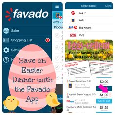 Rsvp milesofsmiles twitter party april 24th 7pm est 50 100 save on easter dinner with the favado app favado savings app easter negle Images