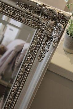 AFTER: Hand painted mirror in Autentico metallic silver with dark brown wax detail