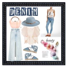 """""""Denim accesories - trendy"""" by cool-cute ❤ liked on Polyvore featuring Alexander Wang, Alice McCall, Aquazzura, Nordstrom, Rocio, Volcom, StreetStyle, denim and stylish"""