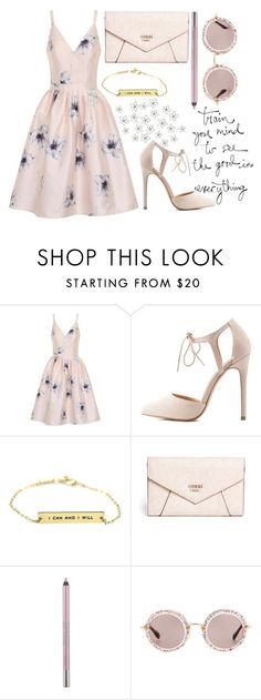 """"""" flowers """" by flo-rence on Polyvore featuring moda, Chi Chi, Charlotte Russe, GUESS, Urban Decay e Miu Miu"""