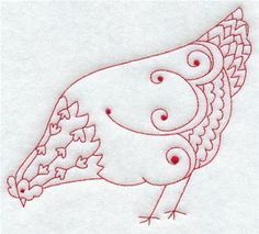 poule red work