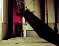 Another fantastic photograph from the hugely talented Carsten Klein. An industrial backdrop an up-lit building and a shadow create an effect thats bigger than the sum of its parts.