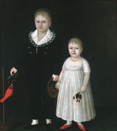Edward and Sarah Rutter, ca. 1805  Joshua Johnson (American, ca. 1763–ca. 1824)  Oil on canvas    36 x 32 in. (91.4 x 81.3 cm)  Gift of Edgar William and Bernice Chrysler Garbisch, 1965 (65.254.3)