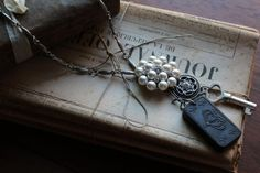 Retro Vintage Necklace by HaveFaithDesigns on Etsy