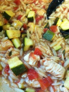 Make and share this Chicken, Tomato, Zucchini, and Orzo Stew recipe from Food.com.