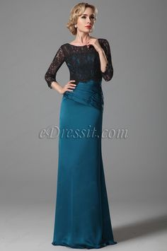 Elegant Mother of the Bride Dress With Black Lace Top (26152805) #edressit #dress #mother_dress #fashion