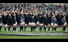 New Zealand's rugby players preform the 'Haka' before the start of the international rugby union test match between New Zealand and Ireland at Aviva Stadium in Dublin. World Champions New Zealand became the first team in the professional era to win all their Test matches in a calendar year as Aaron Cruden converted with the last kick of the game to beat Ireland 24-22 in a pulsating encounter at Lansdowne Road.