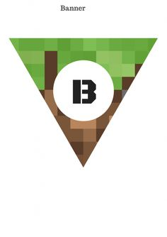 FREE Minecraft Banner & Toppers - Baby Shower Ideas - Themes