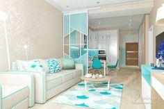 Квартира-студия в холодных цветах, Мария Мартынюк, Кухня, Дизайн интерьеров Formo.ua