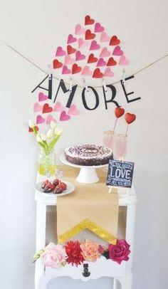 Decoración mesa San Valentín: Fotos de románticas ideas - Ideas decorativas para…