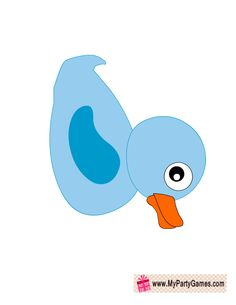 Rubber Ducky in Blue, Baby Shower Photo Booth Prop