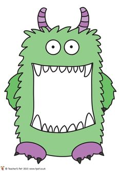 Monster cut outs - perfect for self registration or coat peg labels