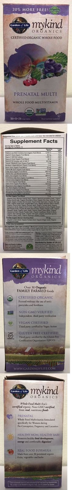 Other Vitamins and Supplements: (New) Garden Of Life Mykind Organics Prenatal Multi Vitamins 216 Vegan Tablets -> BUY IT NOW ONLY: $42.49 on eBay!