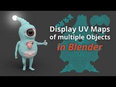 Display UV Maps of multiple Objects (Blender Tutorial EN) - YouTube