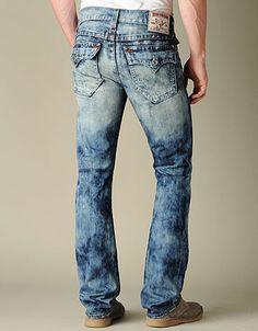 True Religion Brand Jeans, TRUE-8798 MENS RICKY STRAIGHT JEAN - (YLM ANTELOPE), truereligionbrandjeans.com