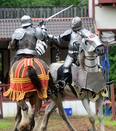 Armored jousting at the Sterling Renaissance Festival. #horse #riding #knight
