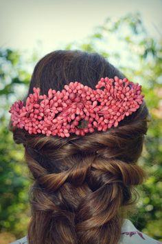 Headdress, Headpiece, Pelo Vintage, Hairdo Wedding, Hair Beads, Beaded Jewelry, Jewellery, Flower Dresses, Wedding Bouquets