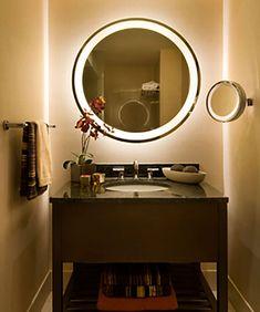 Electric Mirror Eternity Round Lighted Mirror with AVA from AVBpro. Electric Mirror Eternity Round Lighted Mirror with AVA from AVBproducts Mirror Tv, Backlit Mirror, Wall Mounted Mirror, Lighted Mirror, Bathroom Mirrors, Bathrooms, Mirrors For Makeup, Makeup Mirror With Lights, Electric Mirror