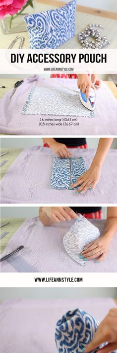 DIY Clutch / Accessory Case & Makeup Pouch | Ann Le Style How to \ EASY  \ No Sew