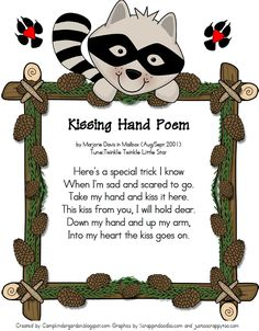 Camp Kindergarten: Kissing Hand Poem