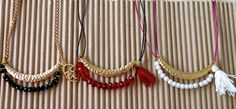 Perfect #valentine's_day gift!!! Long necklace boho style with chain or leather by ErgastiriAspas