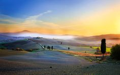 Sunset in Tuscany - Sunset in Tuscany