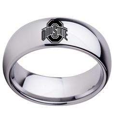 Full Logo Style South Carolina Gamecocks College Rings Stainless Steel 8MM Wide Ring Band