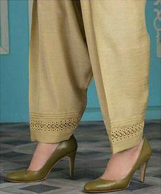 salwar poncha design dori loops patiala salwar mohri design easy way Latest Salwar Suit Designs, Neck Designs For Suits, Sleeves Designs For Dresses, Salwar Designs, Kurta Designs Women, Kurti Designs Party Wear, Pakistani Fashion Party Wear, Pakistani Dresses Casual, Indian Fashion Dresses