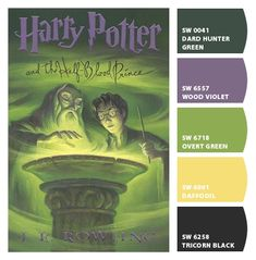 harry potter and the half-blood prince color scheme, i just wanted to test out chip it and what better way than with my fav books!