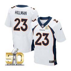 Denver Broncos #23 Ronnie Hillman White 2016 Super Bowl 50 Elite Jersey